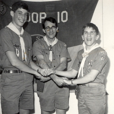 Howard, with Steve and Don, new Eagle Scouts, 1967